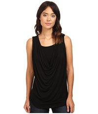 Christin Michaels Freida Sleeveless Cowl Neck Top With Built In Camisole Black Women's Sleeveless