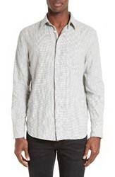 Rag And Bone Men's Beach Sport Shirt Ivory Grey
