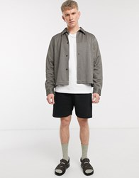 Weekday Radcliff Check Overshirt In Beige