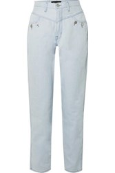 J Brand Elsa Hosk Playday High Rise Straight Leg Jeans Blue
