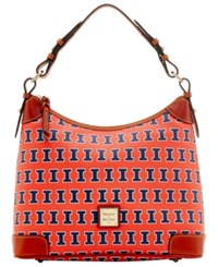 Dooney And Bourke Illinois Fighting Illini Hobo Bag Orange