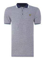 Lyle And Scott Men's Short Sleeve Tipped Collar Polo Navy