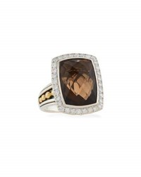 Lagos Prism Smoky Quartz And Diamond Cocktail Ring Multi