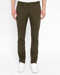 Acne Studios Khaki Max Cotton Satin Trousers