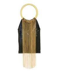 Whiting And Davis Gold Rush Clutch Bag Black Gold