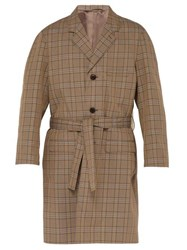 Lemaire Chesterfield Checked Cotton Blend Coat Beige