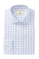 Todd Snyder Check Trim Fit Dress Shirt Blue