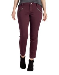 Jag Knit Denim Skinny Jeans Purple