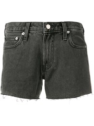 Calvin Klein Jeans Frayed Denim Shorts Black
