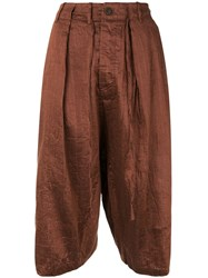 Forme D'expression Sarouel Cropped Trousers Brown