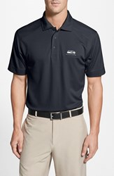 Men's Big And Tall Cutter And Buck 'Seattle Seahawks Genre' Drytec Moisture Wicking Polo Navy Blue