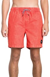 Rvca Men's Fade Swim Trunks Poppy Red