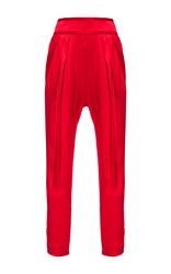 Givenchy Silk Satin Trousers Red