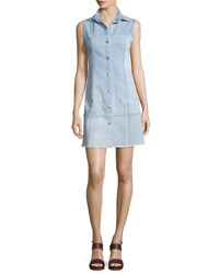 Ag Jeans Effie Sleeveless Button Front Shirtdress Polished Stone