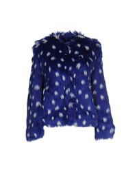 Ainea Coats And Jackets Faux Furs Women Blue