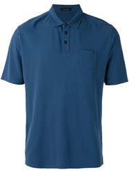 Roberto Collina Chest Pocket Polo Shirt Blue