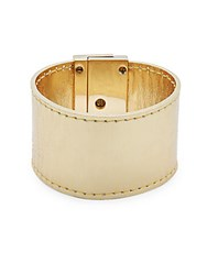 Cc Skye Leather Turn Lock Bracelet Gold