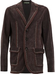 Di Liborio Embroidered Eyelets Blazer Brown