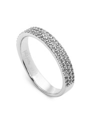 Folli Follie Fashionably Silver Thin Band Ring Silver
