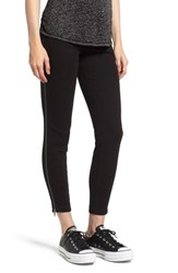 Lysse Zip Denim Leggings Black