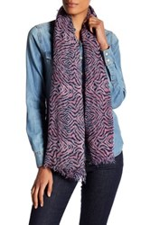Zadig And Voltaire Geometric Print Scarf Blue