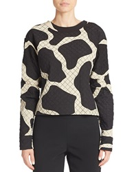 Dkny Giraffe Print Quilted Top Beige Multi