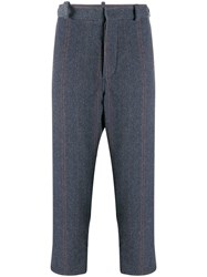 Ann Demeulemeester Pinstriped Trousers Blue