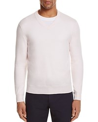 Bloomingdale's The Men's Store At V Neck Cotton Cashmere Sweater Heavenly Pink