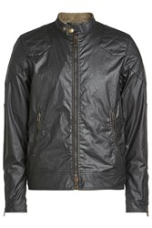 Belstaff Waxed Cotton Jacket With Quilted Patches