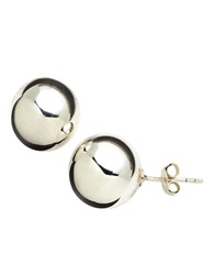 Lord And Taylor Sterling Silver Ball Stud Earrings
