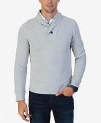 Nautica Men's Shawl Collar Sweater Grey Heather