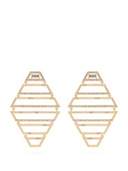 Susan Foster Diamond And Yellow Gold Earrings