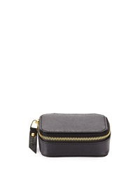 Neiman Marcus Leather Small Pill Case Black