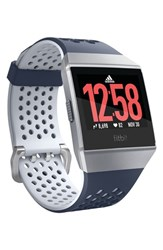 Fitbit X Adidas Ionic Watch Ink Blue Ice Gray Silver Gray