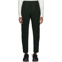 Homme Plisse Issey Miyake Green Pleated Tailored Trousers
