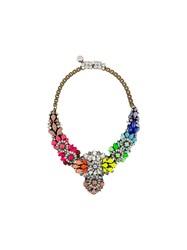 Shourouk Apolonia Necklace Pink And Purple