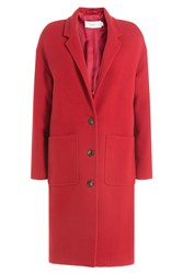 Closed Coat With Wool And Cashmere Red