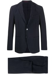 The Gigi Degas Striped Two Piece Suit Blue