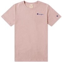 Champion Reverse Weave 'S Small Script Tee Pink