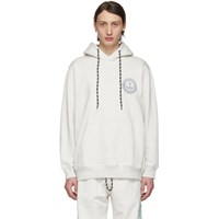 Adidas By Alexander Wang Originals Grey Graphic Hoodie