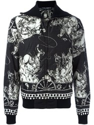 Dolce And Gabbana Cowboy Print Jacket Black