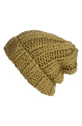 Free People Women's Back To Basics Beanie Green Olive