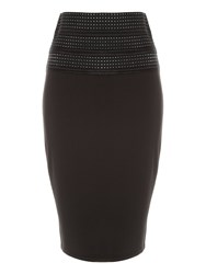 Jane Norman Black High Waisted Bandage Skirt