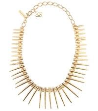 Oscar De La Renta Spike Necklace Gold