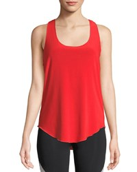 Onzie Glossy Flow Racerback Performance Tank Coral