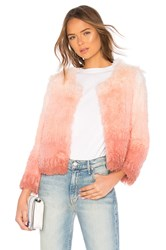 Mother The Faux Fur Boxy Jacket Pink