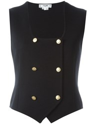 Celine Vintage Double Breasted Waistcoat Blue