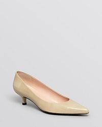Stuart Weitzman Pointed Toe Pumps Poco Moonglow Aniline