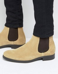 Selected Homme Oliver Suede Chelsea Boots Sand Stone