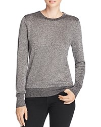 Equipment Ondine Metallic Sweater Black Silver Lurex